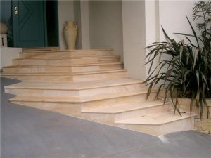 Cut steps and bullnose from 30mm stone, Sydney.