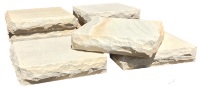 Sandstone pier capping - Rock faced