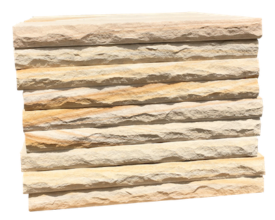 Sandstone wall capping - Rock faced
