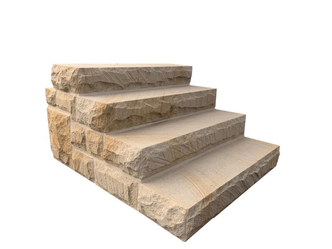 Sandstone Step Treads, solid Australian Stone.