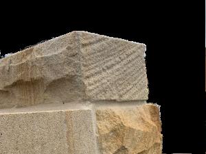 sandstone step solid end raw cut