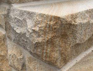 sandstone step solid end rock-faced