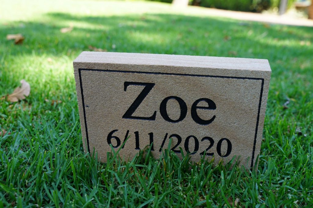 Medium Sandstone Pet Memorial Sign